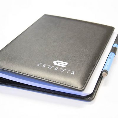 Leather like whiteboard notebook planner