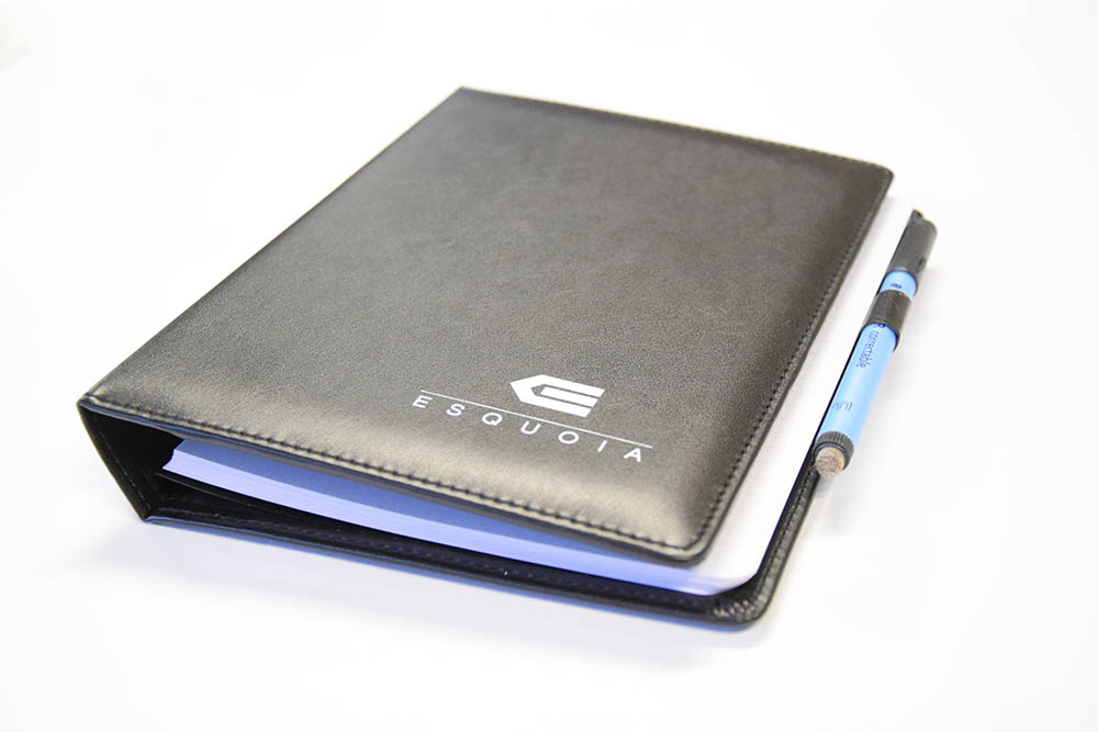 Leather like whiteboard planner